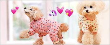 犬と生活プチハートロンパース