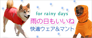 犬と生活レインコート・レインウェア