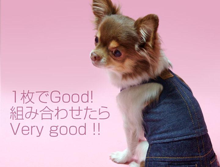 犬と生活 重ね着用ワンピース