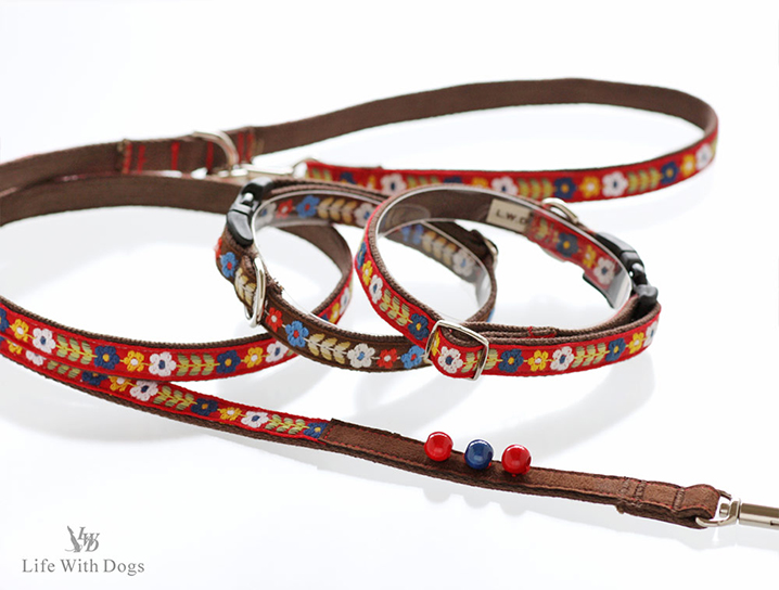 犬と生活 フォークロア カラー リード