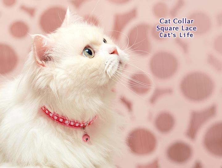 猫の暮らし キャットカラー スクエアレース 首輪