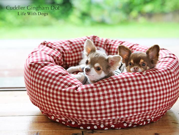 犬と生活 カドラーギンガムドット