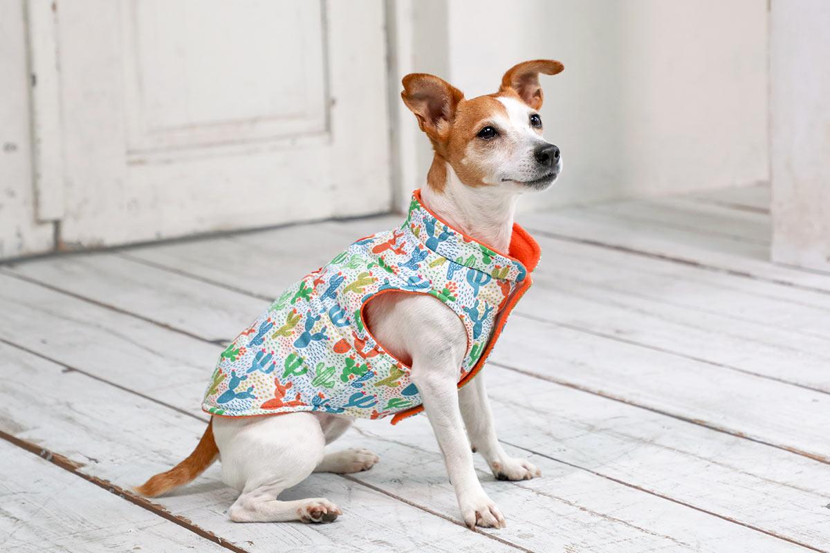 犬と生活 サボテンダウン(ハーネス対応)【犬服 冬服 小型犬 中型犬】