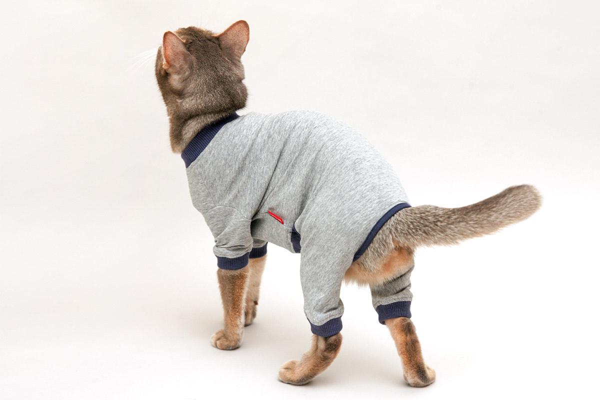 猫の暮らし クレンゼスーツ キャット 【猫服 病中病後 術後 舐め防止 過剰グルーミング】